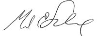 Mark Scheinberg signature