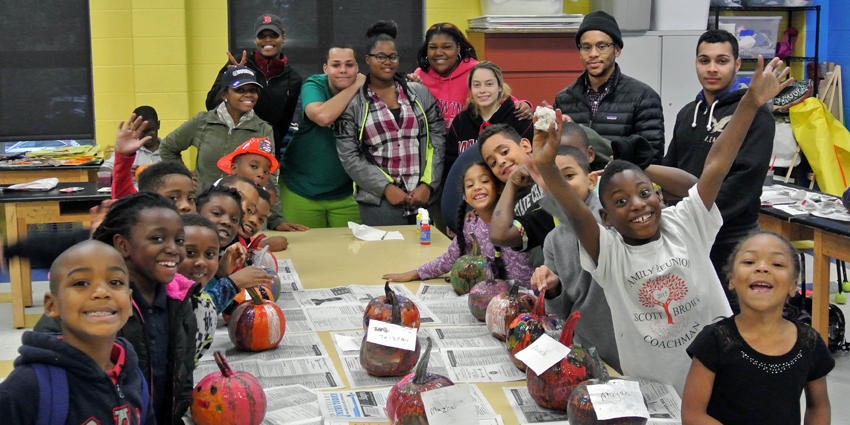 Pumpkin Painting at the Boys and Girls Club
