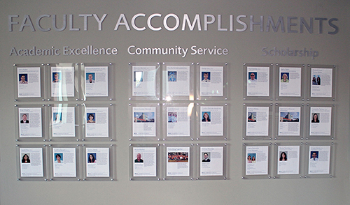 Faculty Accomplishments Wall