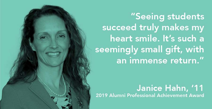 Janice Hahn recipient of the 2019 Alumni Professional Achievement Award