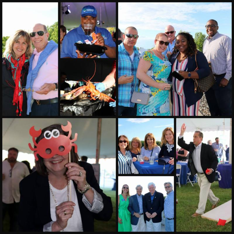 Collage of photos from 2019 Clambake