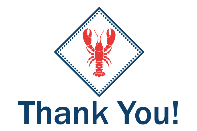 Clambake Lobster Thank You Graphic