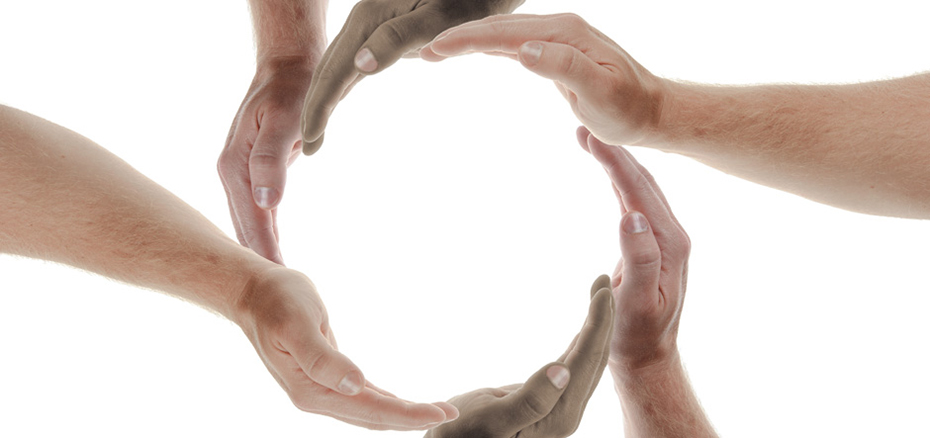 photo of hands making a circle