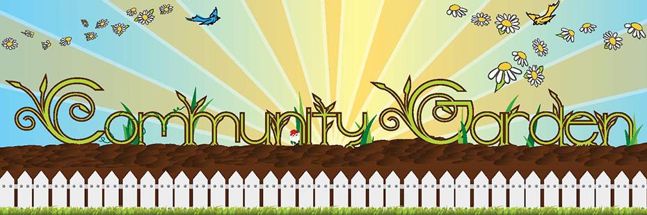 community garden sign