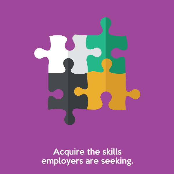 Acquire the skills employers are seeking.
