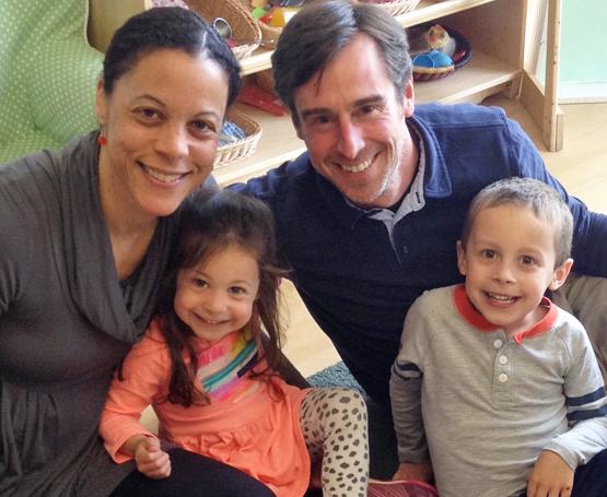 Riverside Magnet School mother and children