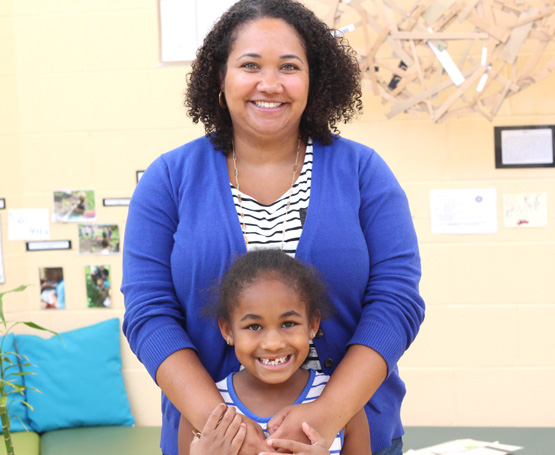 Riverside Magnet School mother and daughter