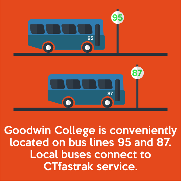 Goodwin College is conveniently located on bus lines 96 and 94.