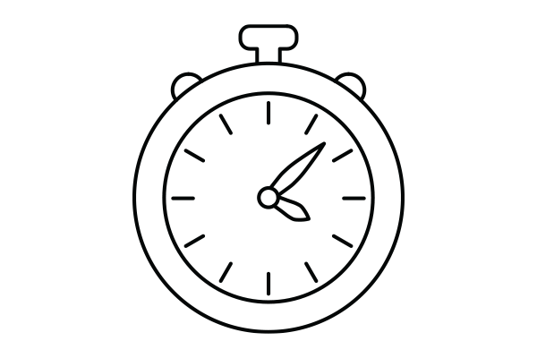 lineart drawing of a stopwatch