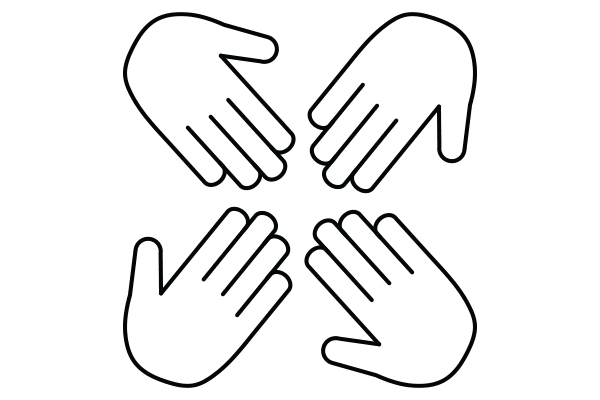 lineart drawing of hands