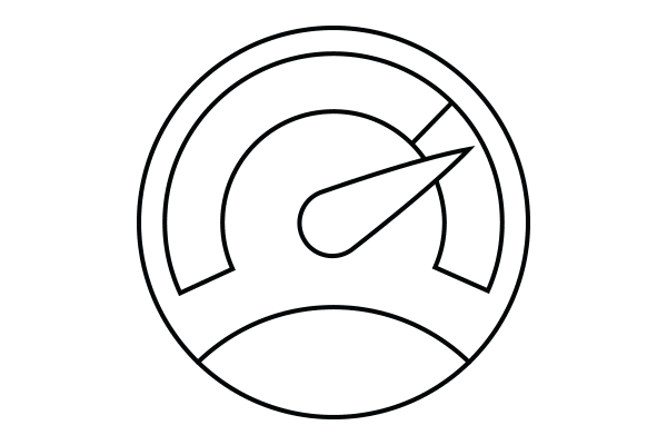 lineart drawing of a speedometer