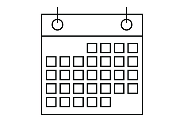 lineart drawing of a calendar