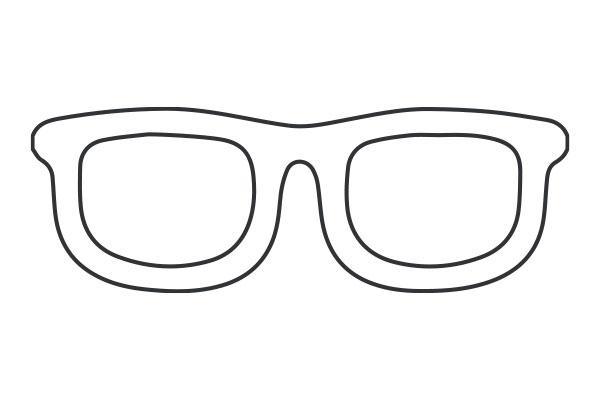 lineart illustration of eye glasses