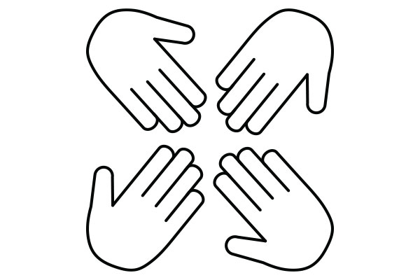 lineart illustration of a hands